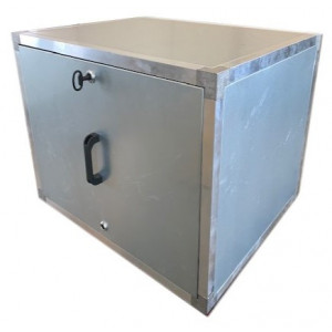 Stalen afzuigbox 350x350mm met inspectieluik (zonder motor)