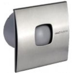 Stille Badkamerventilator met timer  Ø 100mm 98m3 Silentis (RVS)