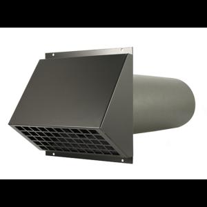 Geïsoleerde geveldoorvoer Ø 200mm zwart