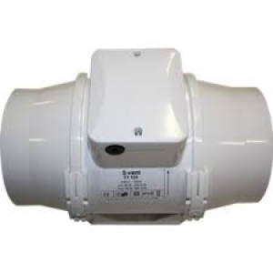 Buisventilator TT125S T 285/345m3/h met timer. Ø 125mm