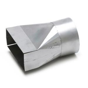 Verloopstuk 170mm x 70mm (Rechthoekig) naar Ø123mm (Rond)