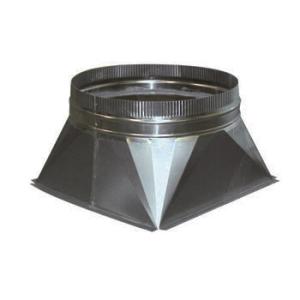 Aluminium Vierkant > Rond Verloop 400x400 > Ø 200 mm