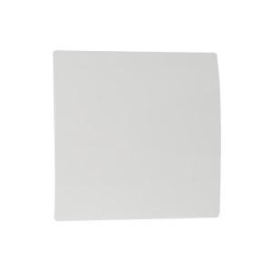 Voorfront designventilator/designrooster Kunststof, Gebogen wit Ø 125mm
