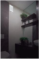 badkamer met ventilator
