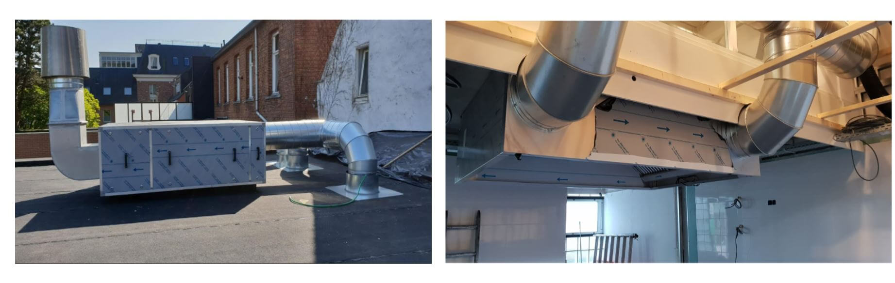 Installatie horeca afzuigkap en geurfilterkast