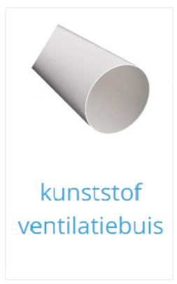 Kunststof ventilatiebuis rond