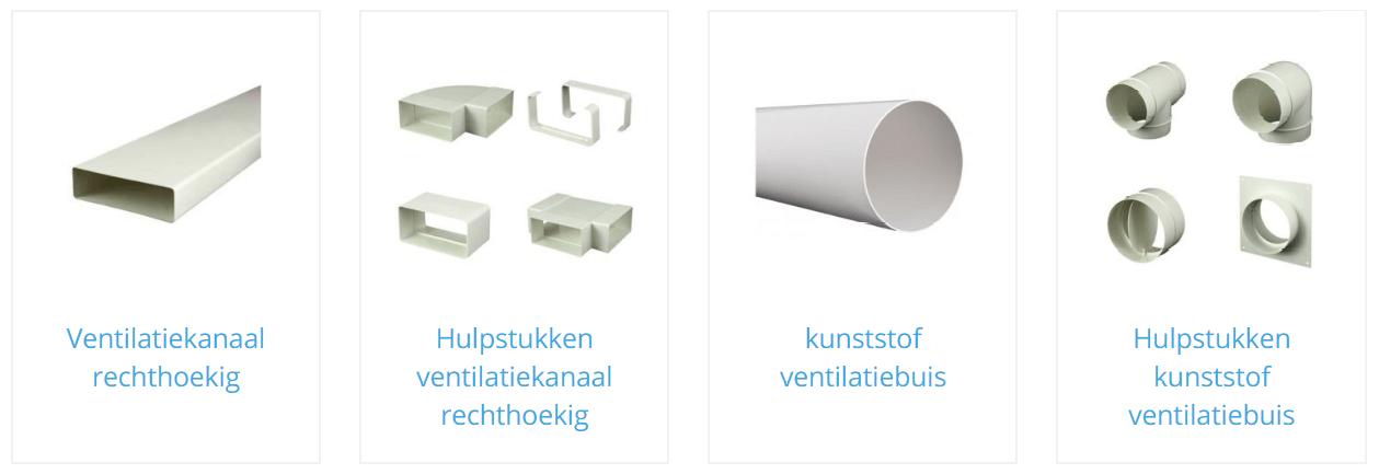 Rechthoekige ventilatiekanalen