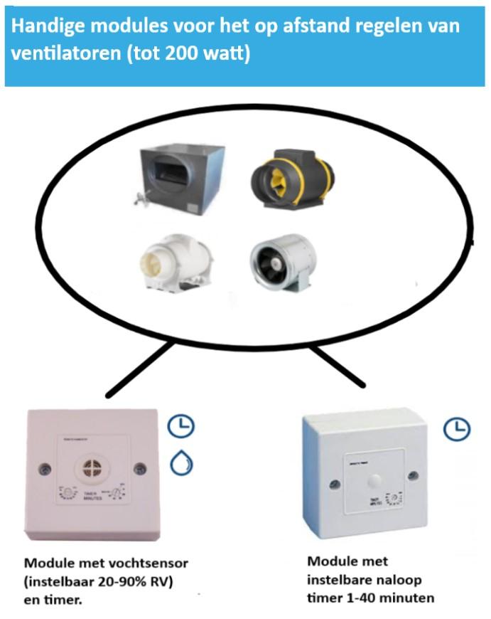 informatie afstandsbedienbare schkelset timer en vochtsensor