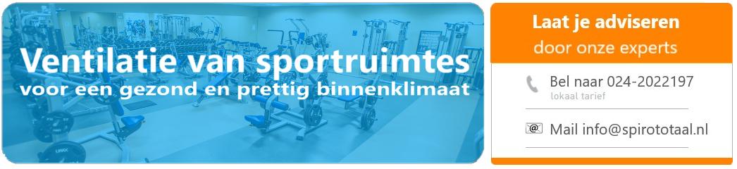 ventilatie eisen sportschool en sporthal