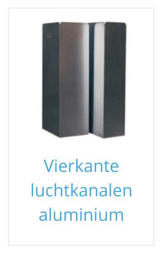 Rechthoekig luchtkanaal aluminium